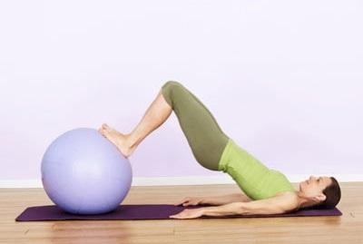 Bridge with swiss Exercise ball