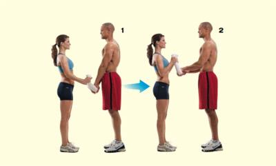 Biceps nadhvat sa partnericom
