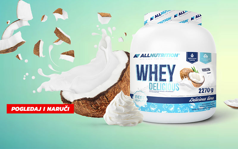 Whey Delicious Protein 2 kg - All Nutrition (promo fotka)