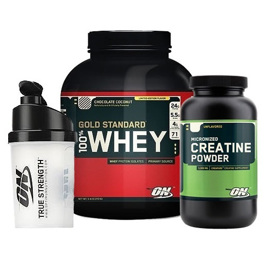 Optimum Mega Muscle paket + shaker